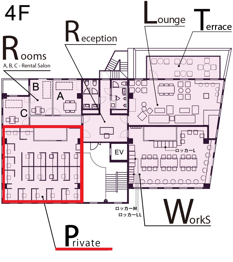グラマラスエイチで、あなただけのサロン&オフィスが実現します! 自分だけのレンタルスペースで、施術にかかせない機材の保管も可能です。